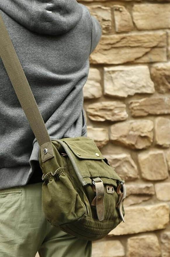 MYLL Unisex Retro Mailman Bag Casual Shoulder Messenger Bag,Green-XL   Amazon.co.uk  Clothing 3a121a5b3c