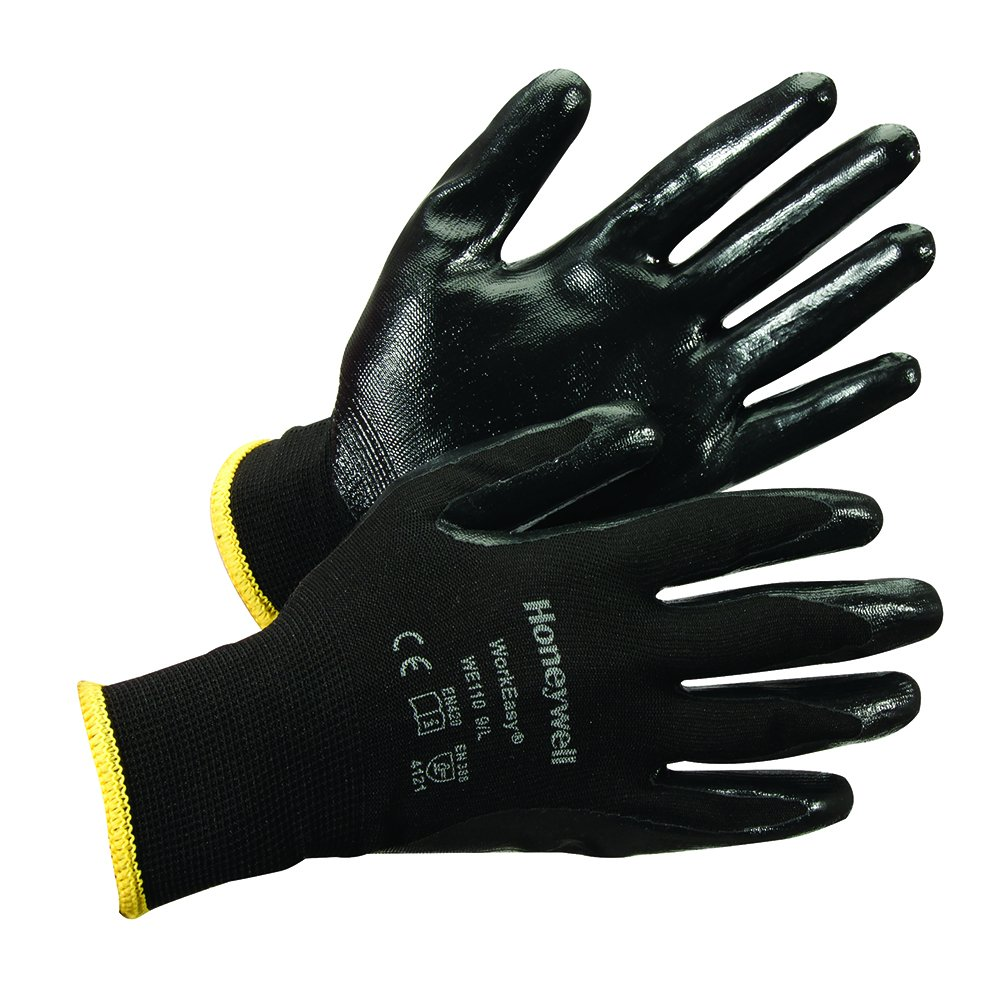 Honeywell Workeasy Polyester Nitrile-Coated Lightweight Safety Gloves, 13 gauge, Large (RWS-57040)