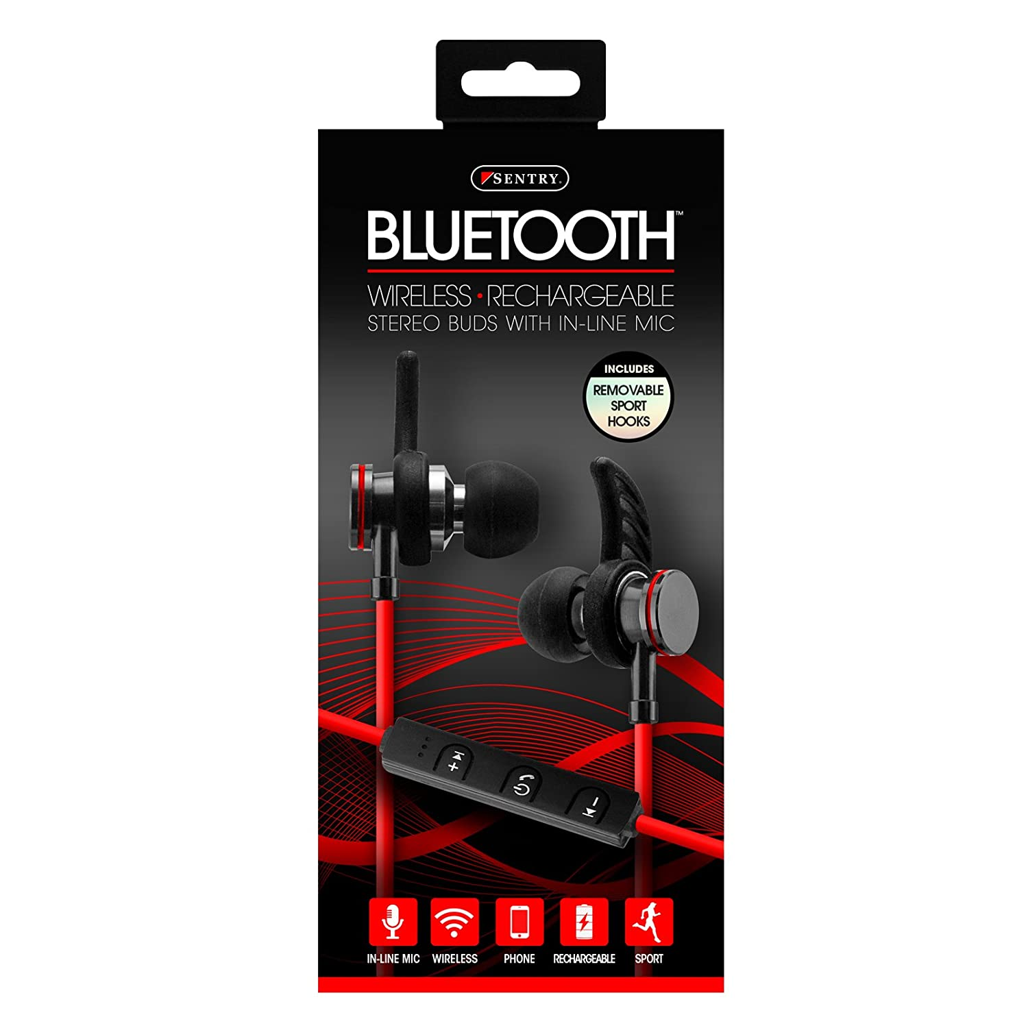 Bluetooth Wireless Rechargeable Stereo Buds With In Line Mic Wire Sony Xplod Cd Player Wiring Moreover Cdx Gt300 Also Str Amazon Com Earbuds Rh
