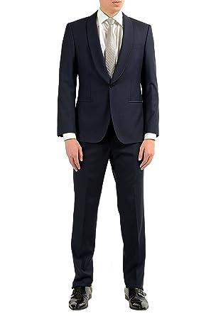 911a63e331b Hugo Boss Henry/Glow Men's Wool Silk Dark Blue One Button Suit US 38S IT