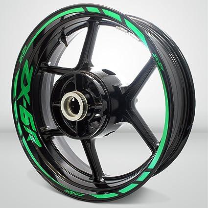 Amazoncom Kawasaki Zx6r Reflective Green Motorcycle Rim Wheel