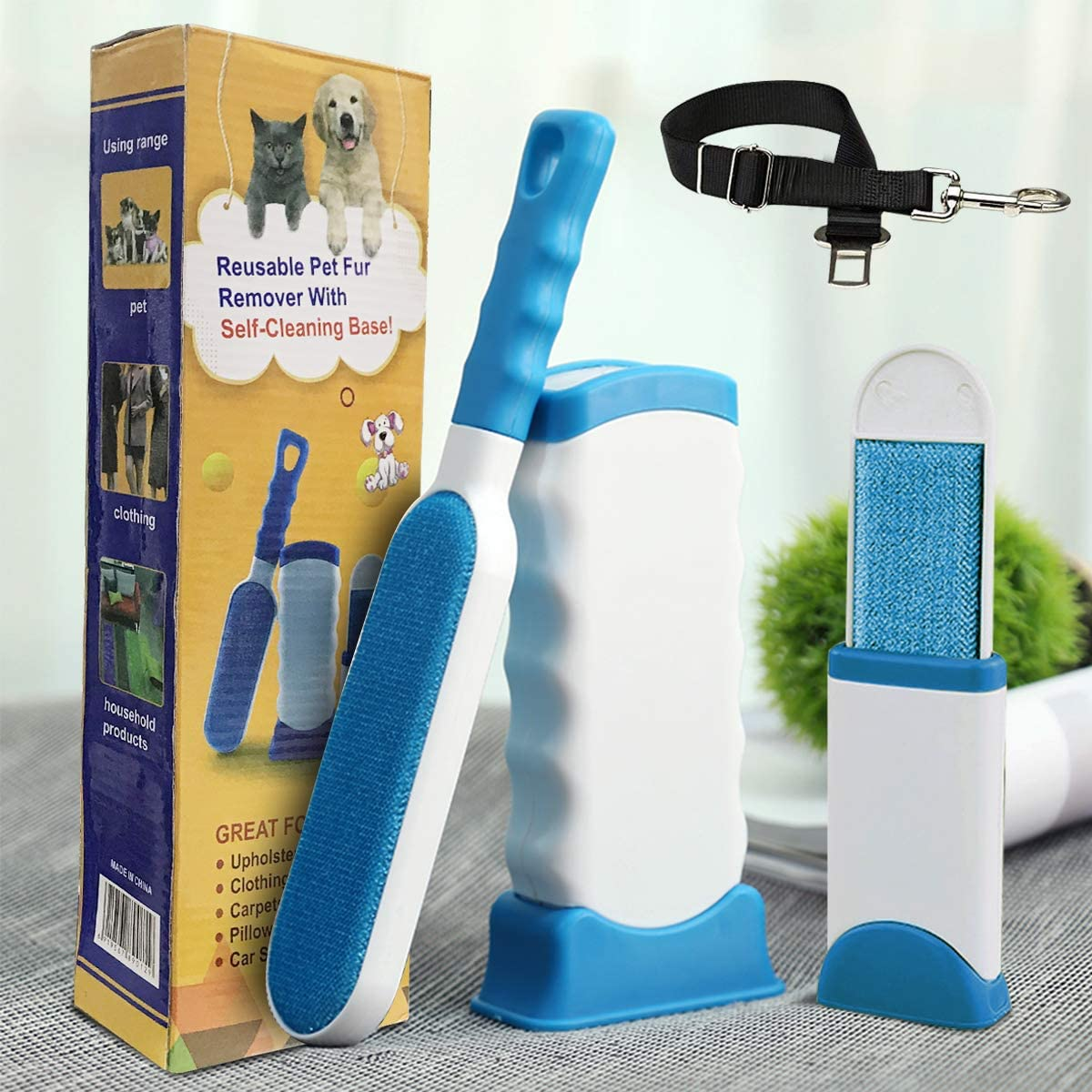 Pet Hair Remover Couch Car Seat Dog /& Cat Fur Remover Brush Dog Hair Remover Cleaning Tool for Furniture Lint Roller Carpet