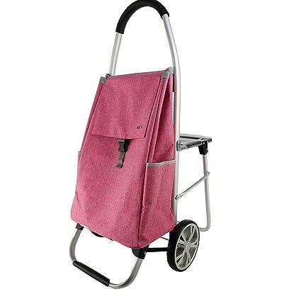 Carrito de compras Con el taburete del asiento Carro de la compra Viejo compre Carro de ...