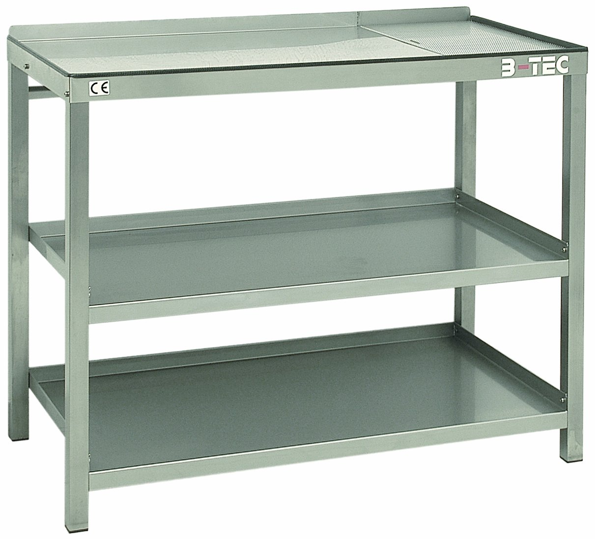 B-TEC Systems AS-1200 Stainless Steel Modular Work Table with Drain Area, 47'' Length x 24'' Width x 38-1/2'' Height