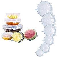 6 ازواج من اغطية تخزين الطعام، اغطية مطاطية من السيليكون، معيار ال اف جي بي قابلة للتمدد لتناسب اشكال مختلفة من الحاويات…