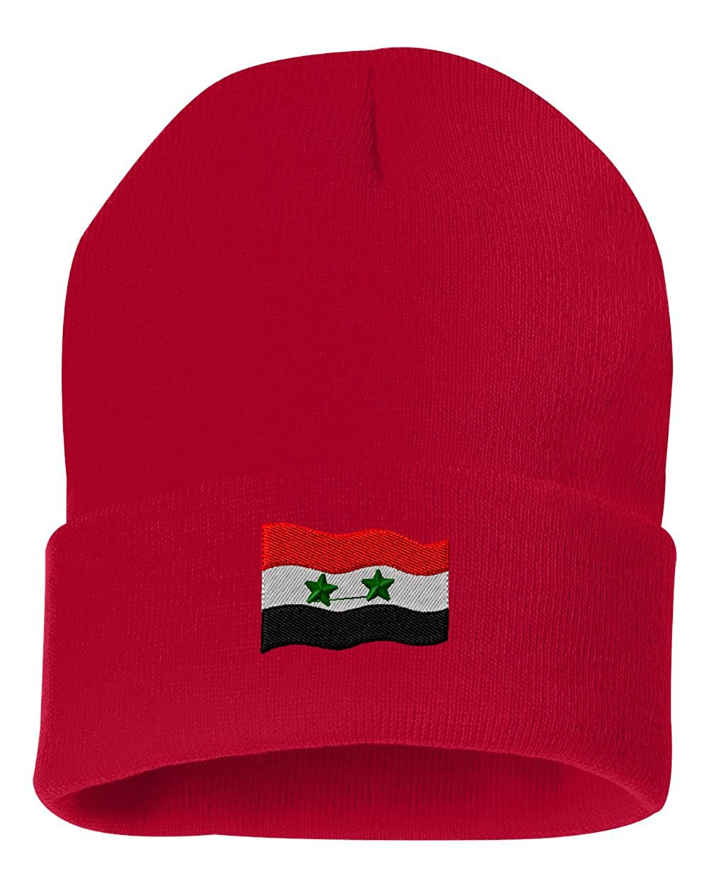 Syria Flag Custom Personalized Embroidery Embroidered Beanie