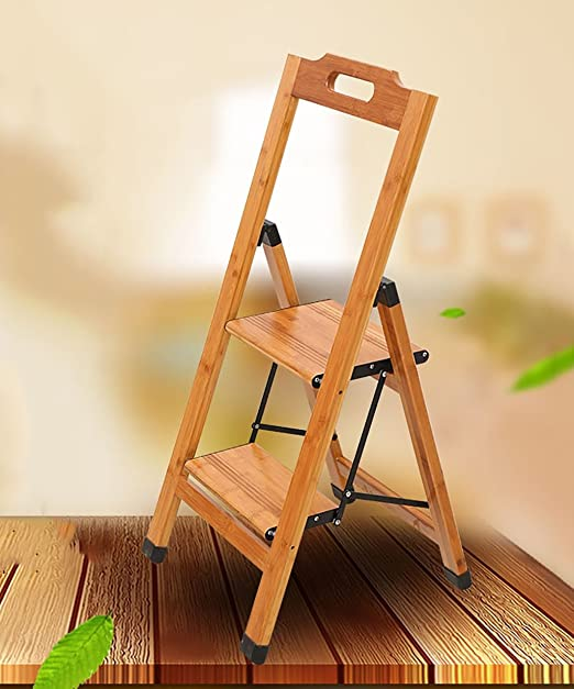 PENGYIZI Bambú Escalera De Mano Casa Escalera Plegable Subir La ...