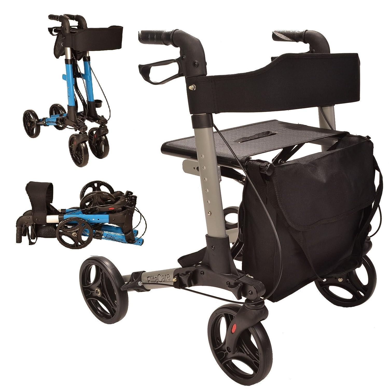 Elite Care X Cruise - Andador plegable ligero y compacto con asiento ...