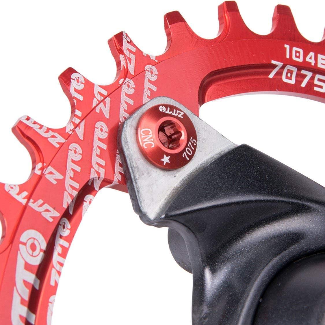 Fancysweety 5PCS//SET Aluminum Alloy Chainring Bolt Bicycle Chainwheel Screws Road MTB Bicycle Disc Screws for Crankset
