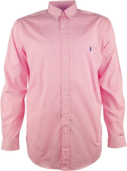 82a288f5b7 Ralph Lauren Men's Big & Tall Bengal Stripe Poplin Sport Long Sleeve  Shirt-PW-