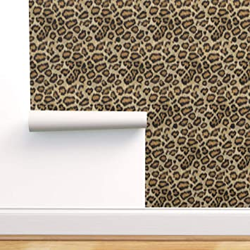 Spoonflower Pre Pasted Removable Wallpaper Leopard Printed Animal Cheetah Costume Print Water Activated Wallpaper 24in X 108in Roll Amazon Com