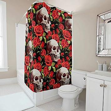 Rideau douche tête de mort 11