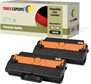 TONER EXPERTE 2 Pack Compatible with 593 11109 Premium Toner Cartridges for Dell B1260Dn B1265Dfw B1265Dnf One Size Black