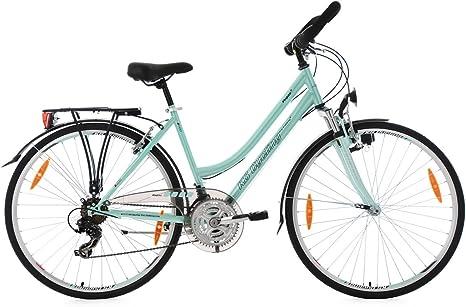 KS Cycling Bicicleta de Trekking Mujer Vegas RH 48 cm – Manillar ...