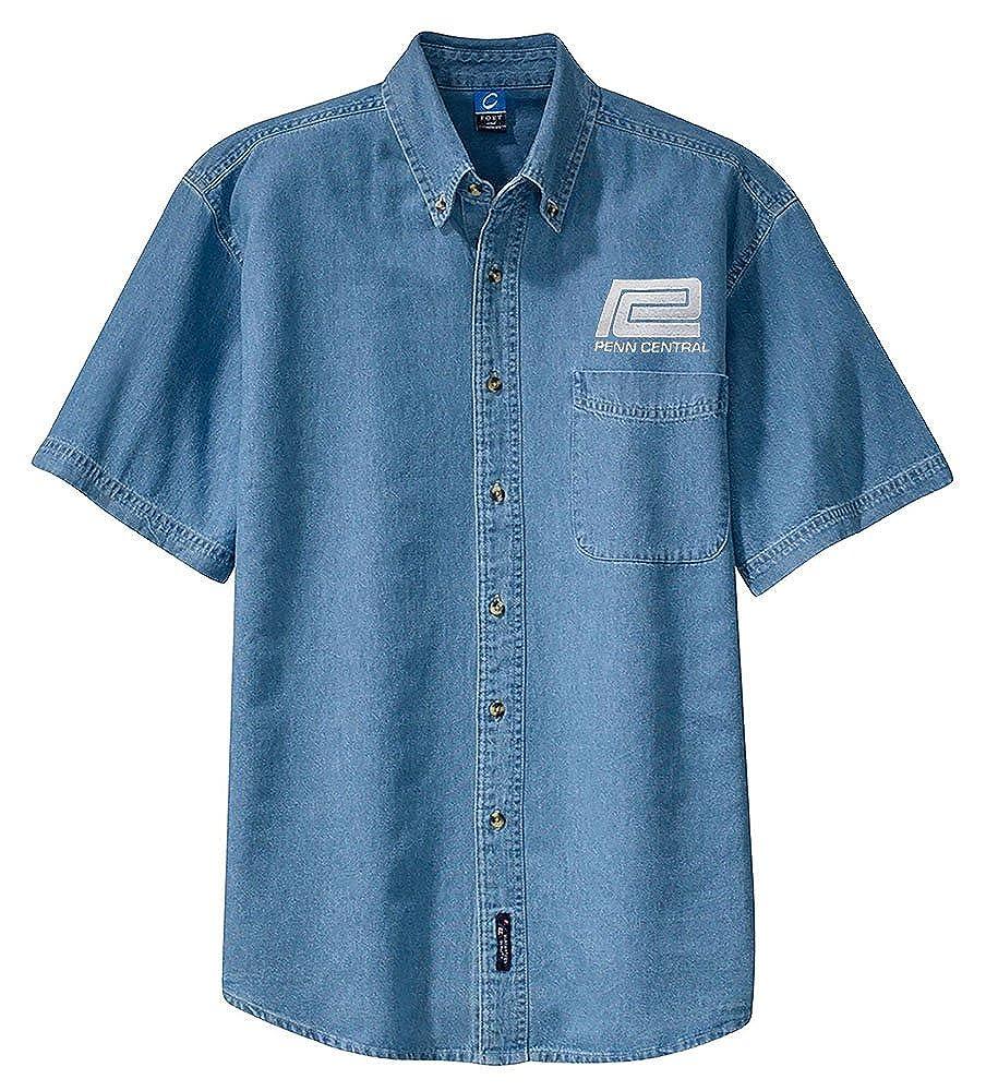 den92SS Penn Central Transportation Company Short Sleeve Embroidered Denim