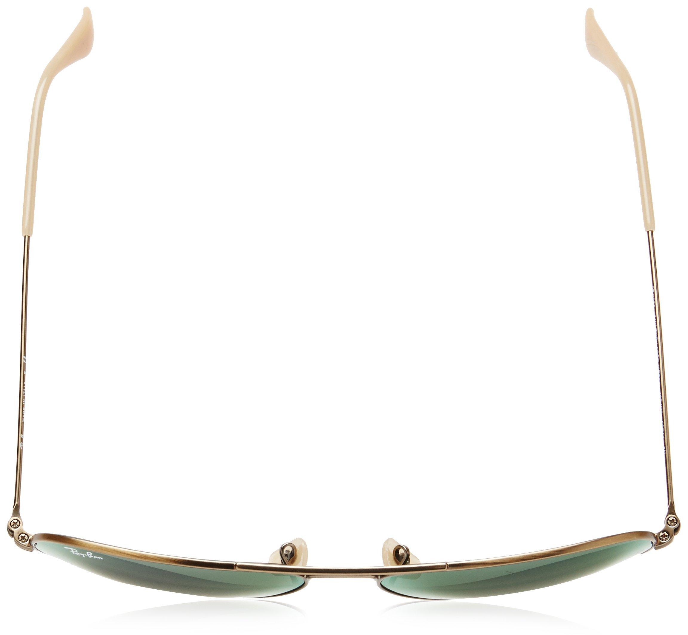 Ray-Ban 3025 Aviator Large Metal Mirrored Non-Polarized Sunglasses, Bronze-Copper/Violet Mirror (167/1M), 58mm