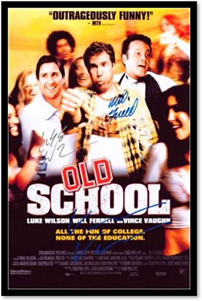 Amazon Old School Signed By Cast Custom Framed Signed Movie
