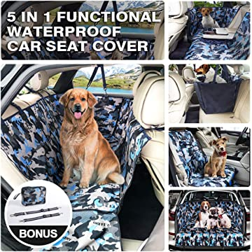 MOVEPEAK Waterproof Seat Cover for Dogs | Scratch Proof, Nonslip & Heavy Duty Pet Dog Seat | Keeps Your Car Seats Clean | Pet Seat Cover Fits Cars, Trucks & SUVs