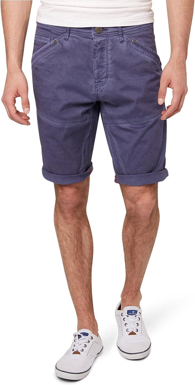 TOM TAILOR Bermuda Jim Shorts Homme Violet (Steal Blue 6872)