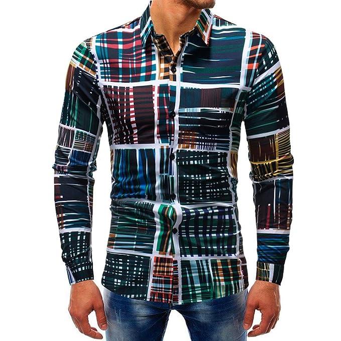 Hffan Camicia Elegante da Uomo a6295ec9e32