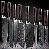 D&G 8 Piece Kitchen Chef Knife Set - High Carbon Stainless Steel