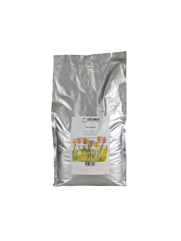 "Zinc Sulfate Powder 35.5% Monohydrate Plus 16.5% Sulfur""Greenway Biotech Brand"" 25 Pounds"