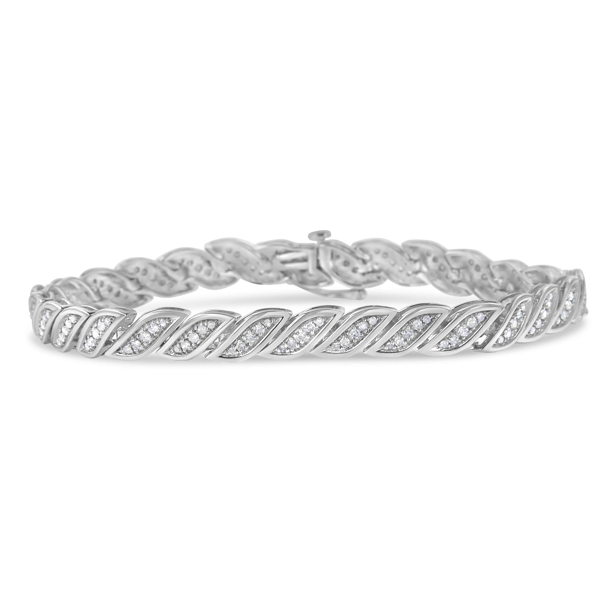 Sterling Silver Diamond Link Bracelet (1 cttw, I-J Color, I3-Promo) by Original Classics