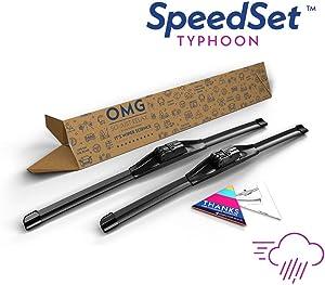 """SpeedSet Typhoon SP-2418 Wiper Blades - 24"""" + 18"""", 2 Pack"""