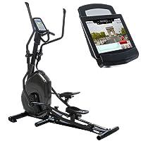 skandika Crosstrainer Elliptical Carbon Pro Advance Ellipsentrainer, Schwungmasse 22 kg, 16 Widerstandsstufen, i-Console+ und Google Street View, höhenverstellbare Steigung, Körperfett, XL