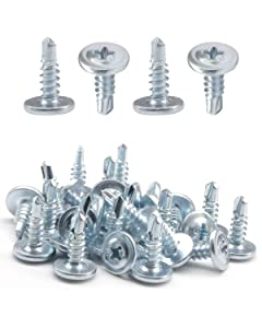 "IMScrews 50pcs #8 x 1/2"" Self Drilling Truss Head Screws Standard Thread Wood Work MDF Zinc"