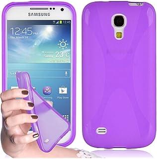 best service 9c077 81119 Cadorabo Coque pour Samsung Galaxy S4 MINI ORCHIDÉE VIOLETS X-LINE Gel  Silicon TPU Etui