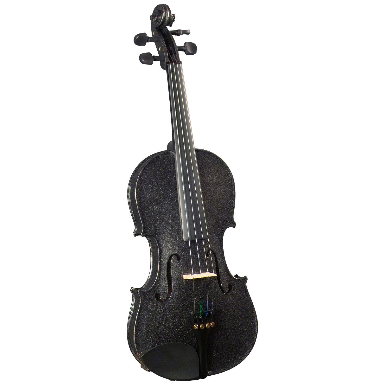 Cremona SV-130 Premier Novice Violin Outfit - Sparkling Black - 4/4 Size by Cremona