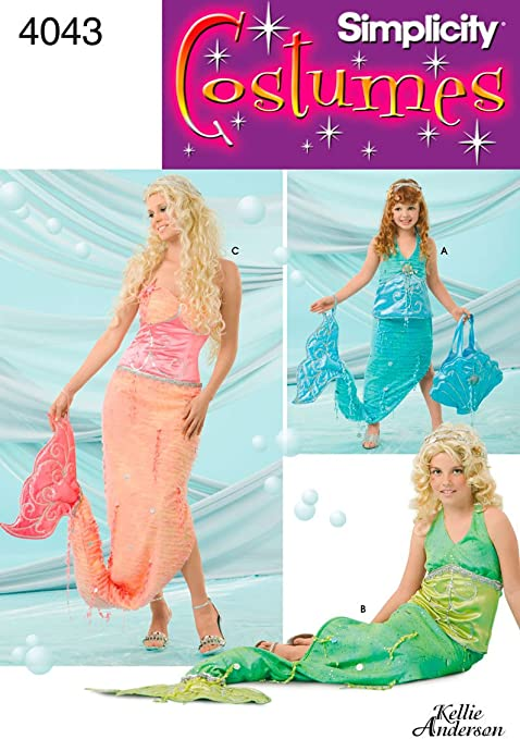 Simplicity 4043 A - Patrones de Costura para Disfraces de Sirena ...