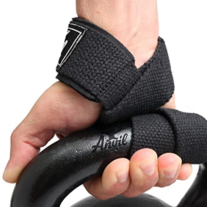 Producto nuevo correas de elevación – Levantamiento de pesas mano Bar Muñeca Apoyo gancho envuelve por