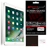 """[Pack of 3] TECHGEAR® New Apple iPad (2017 / 9.7"""") CLEAR Screen Protector Guard Covers with Cloth & Applicator Card"""