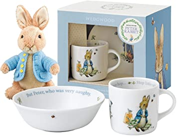 Beatrix Potter Peter Rabbit u0027Boysu0027 2 Piece Gift Set (by Wedgwood) with  sc 1 st  Amazon UK : peter rabbit baby plate set - Pezcame.Com