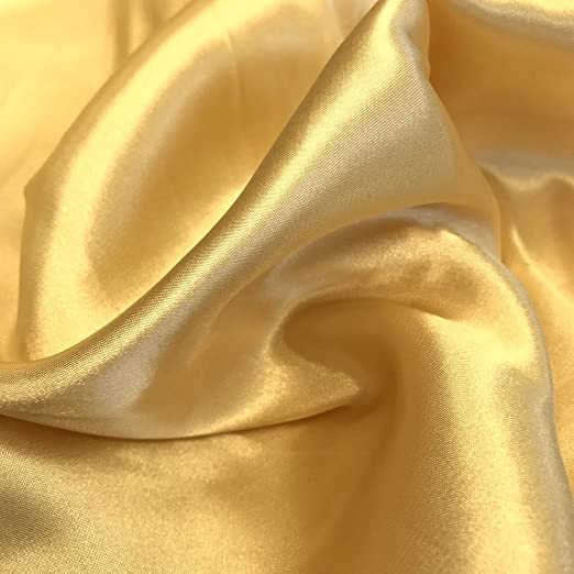 Gorgeous White Silky Satin Fabric Material Wedding Dress Making Venue Decorating