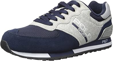 Polo Ralph Lauren Slaton Polo Fashion Sneaker (44 EU): Amazon.es ...