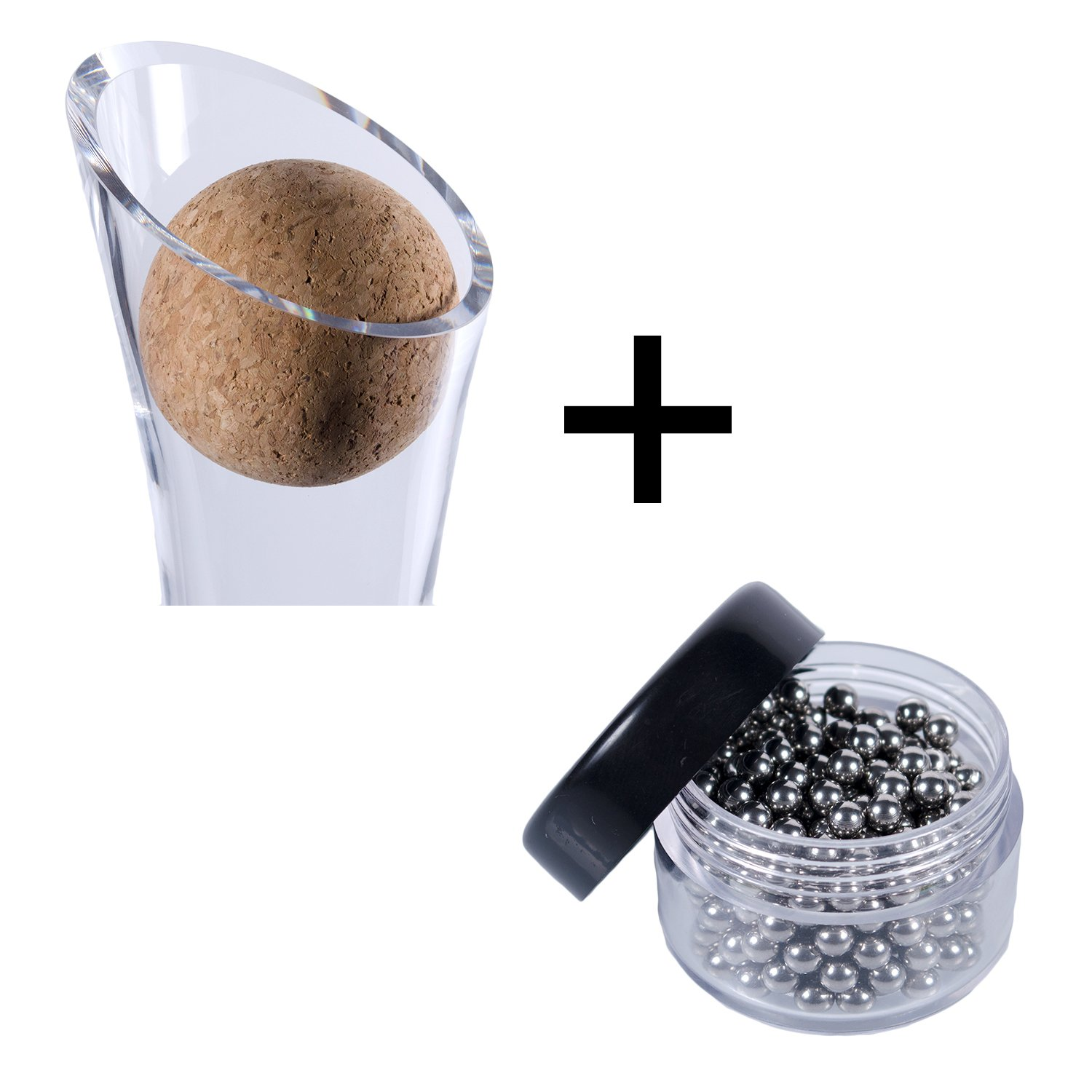Wine Decanter Cork Stopper & Stainless Steel Cleaning Beads Accessories