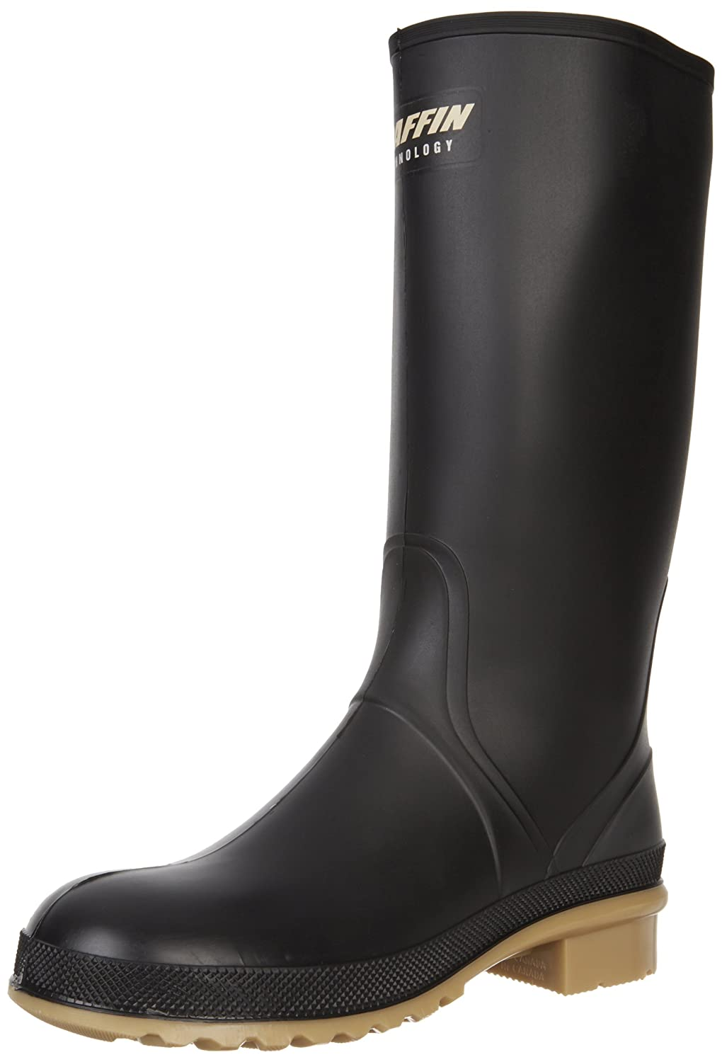 Baffin Women's Prime Rain Boot B006SVYE70 5 B(M) US|Black/Amber