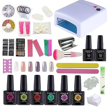 [Choisir 6 colores] Coscelia 36 Watt lámpara Nail Art para Uña Aceite cuiticule Topcoat