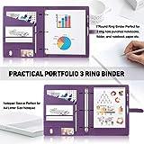 Toplive Padfolio 3 Ring Binder