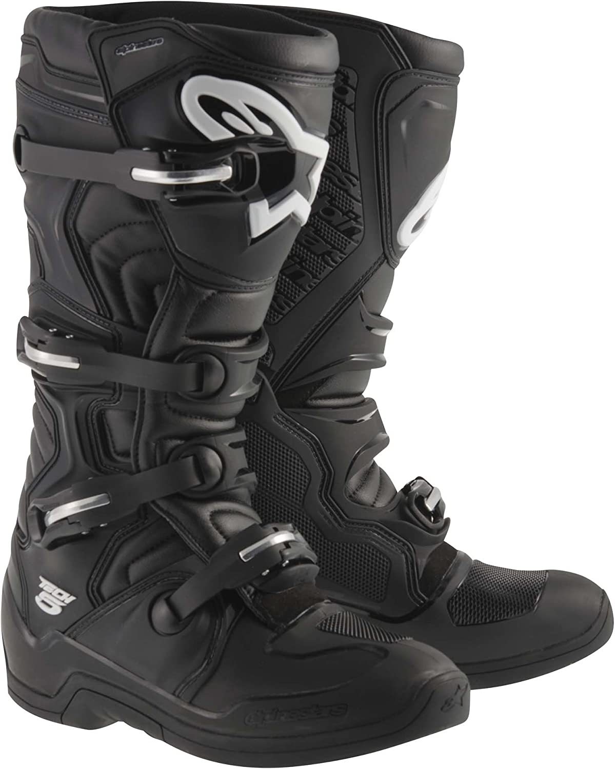 White 3-pk Alpinestars STRAP Kit w// Aluminum Bridge for Tech 10 Boots 2014-UP