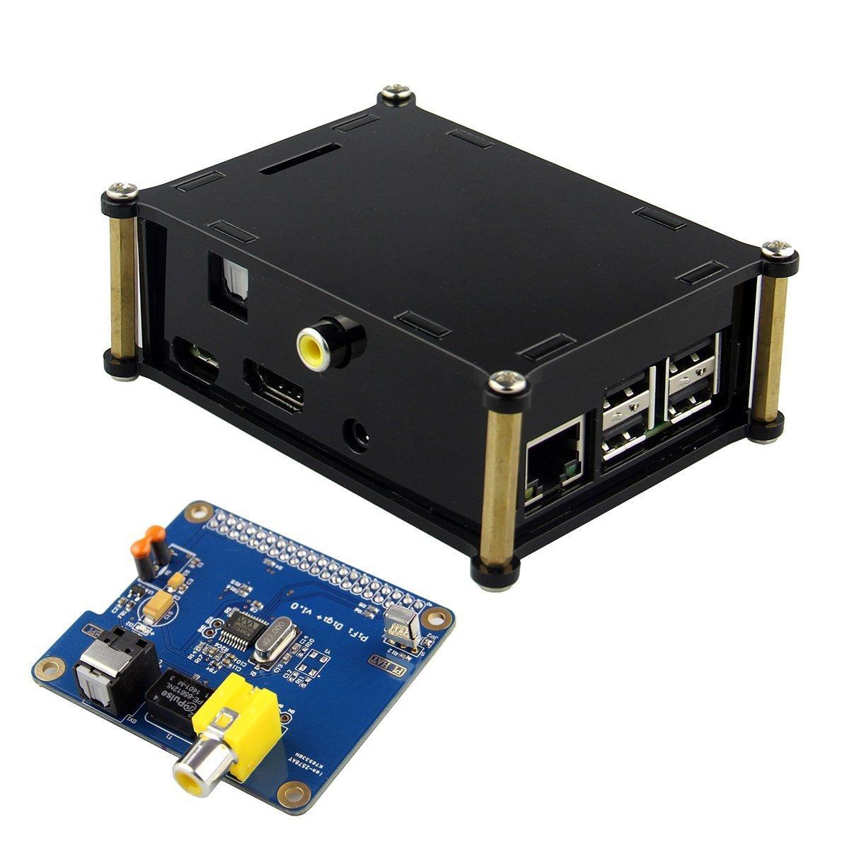 2017 05 512 xd picture card - Kuman For Raspberry Pi Hifi Digi Digital Sound Card I2s Spdif Optical Fiber Protective Acrylic