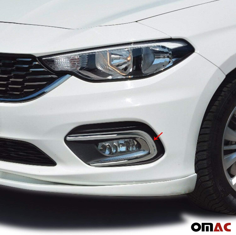 Blende Scheinwerfer für Fiat Tipo 2015-2021 Chrom Leiste Abdeckung Edelstahl 2x