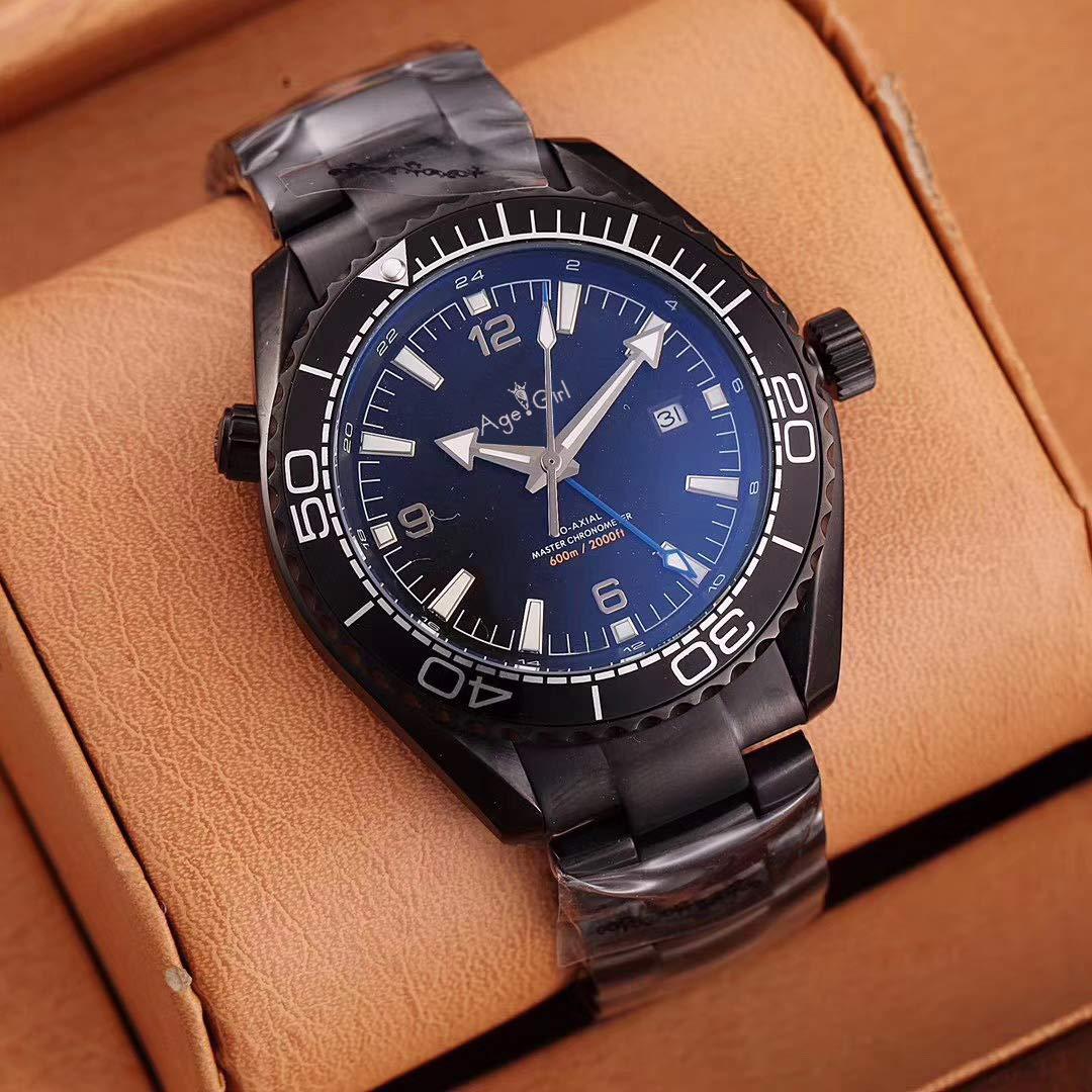 PLKNVT Luxury Brand Uomo Meccanico Automatico GMT Impermeabile Blu Rosso Nero Oro Rosa Professionale in Acciaio Inossidabile Sapphire Orologi