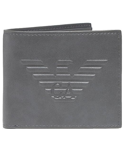 827731e963 Armani Uomo portafoglio con maxi logo Bifold Grigio Unica Taglia:  Amazon.it: Abbigliamento