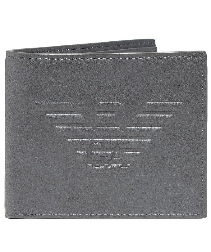 Armani Hombres bifold wallet de maxi logo Gris única Talla ...