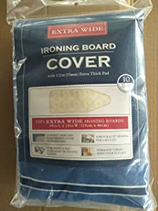 J&J home fashion Extra Wide 18-49 Cover with Pad Blue Stripe