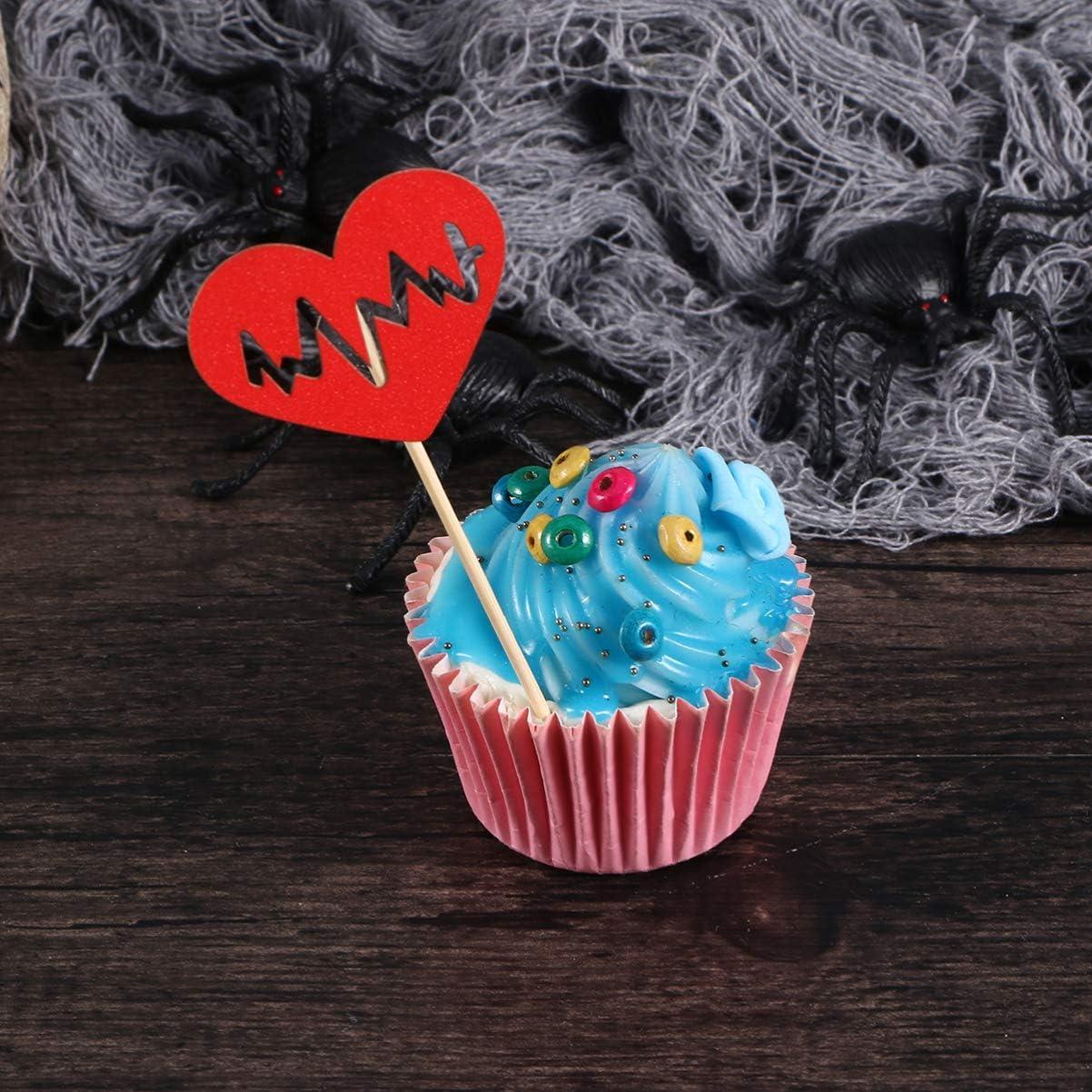 Amosfun Halloween Cake Topper Hospital Cupcake Picks píldora Fruit ...